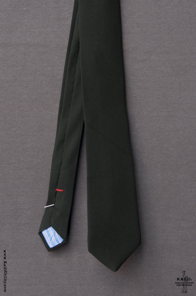 Calvary Twill Wool Tie - Hunter Green