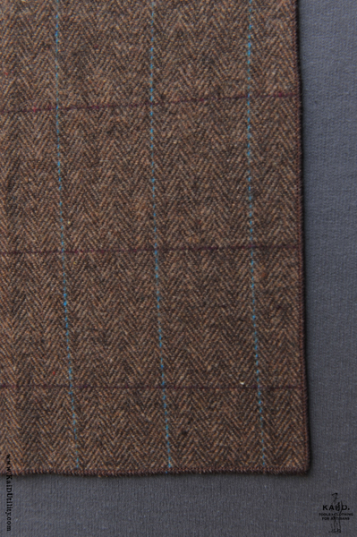 Tweed Pocket Square - Brown