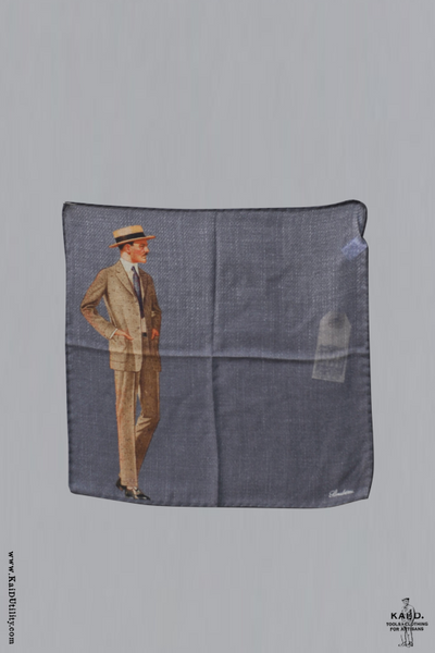 Gentleman Wool Silk Pocket Square
