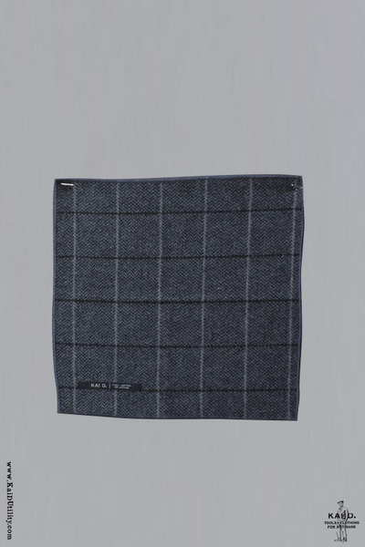 Tweed Pocket Square - Grey