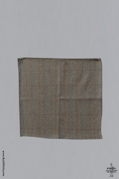English Tweed Pocket Square - Light Tan
