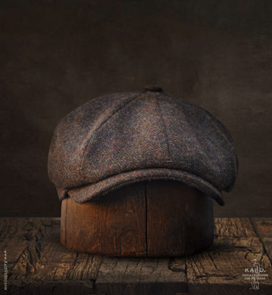 Wool Tweed Casquette - Brown Tweed - M, XL