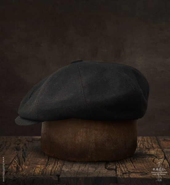 Japanese Wool Peaky Hat - Dark Shadow - M, L, XL
