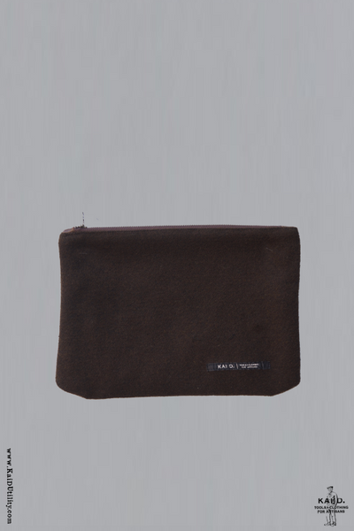 Hold All Utility Pouch - Brown Texture Wool