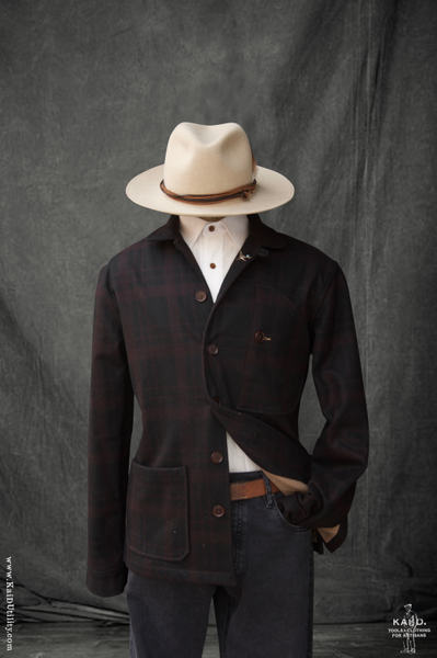 Hardy Chore Jacket - Tonal Wool Plaid - M, L, XL
