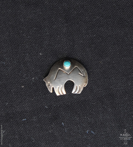 Sterling Silver Brooch - Bear
