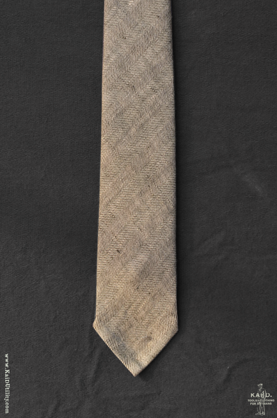 Belgian Washed Linen Tie - Khaki Heather
