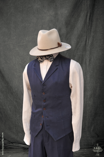 Doyle Vest - Cotton Linen Twill - M, L, XL