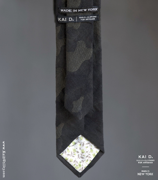 Jacquarded Camouflage Cotton Tie