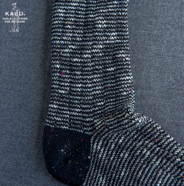 Speckled Feeder Stripe Socks