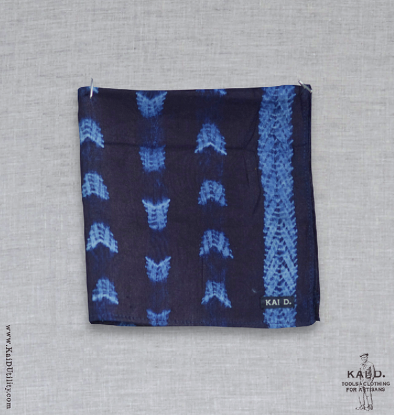 West Africa Indigo Pocket Square