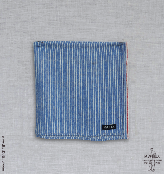 Mini Striped Cotton Wool Pocket Square