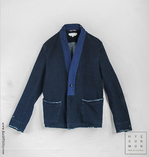 Indigo Dyed French Terry Jacket