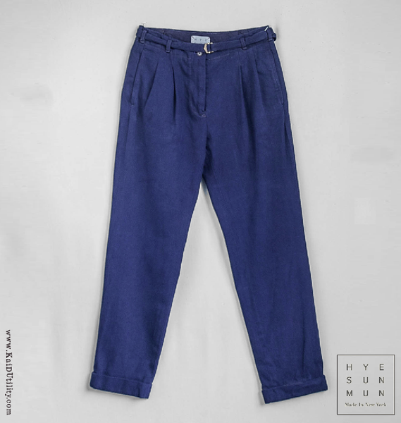 Indigo Dyed McCartney Belted Pants