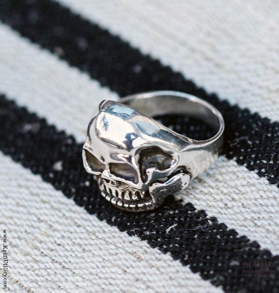 Open Jaw Skull Ring - Size 11 3/4