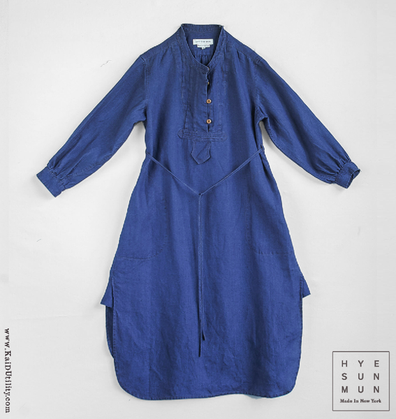 Artisan Washed Indigo Dress - S