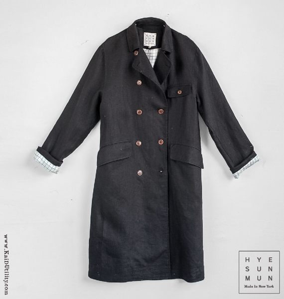Keaton Pure Linen Trench Coat