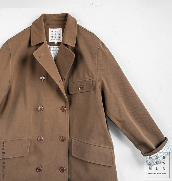 Keaton Dense Cotton Trench Coat