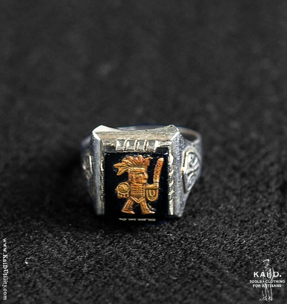 Aztec Warrior Ring - Size 12 1/2