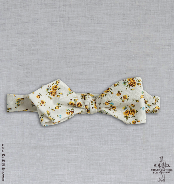Cotton Floral Bowtie