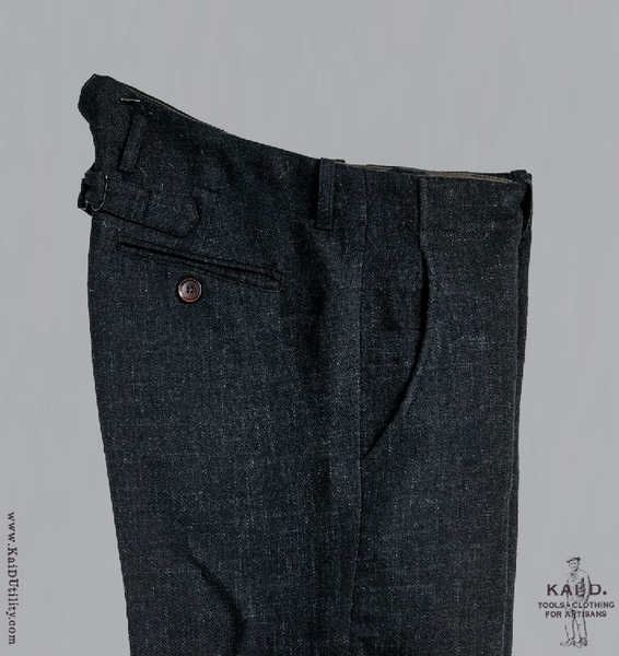 Stipple Weave Wool Linen Borough Pant