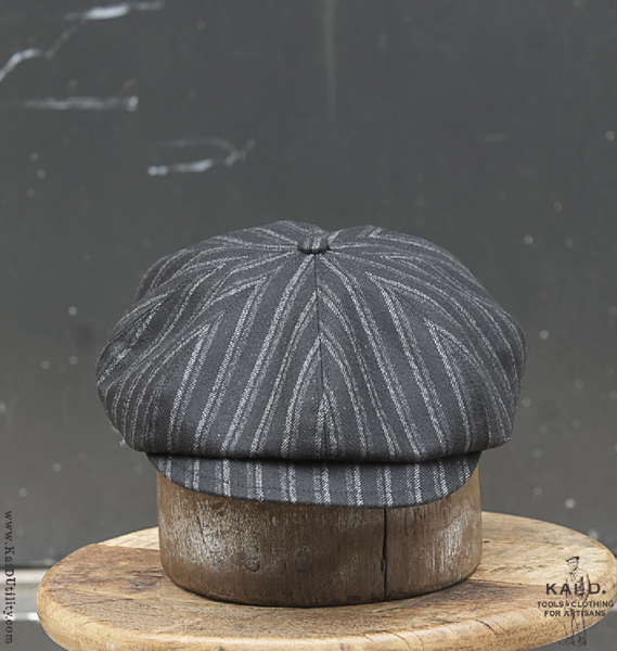 Striped Wool Baker Boy Hat