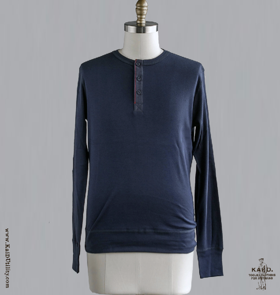 Henley Harri - Navy -S, M, L, XL