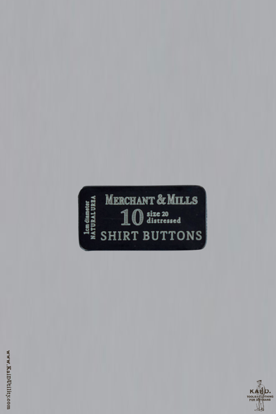 Shirt Buttons in Tin - Grey Brown