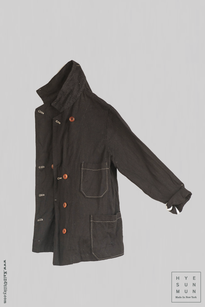 Solid Linen Hutton Jacket - Black