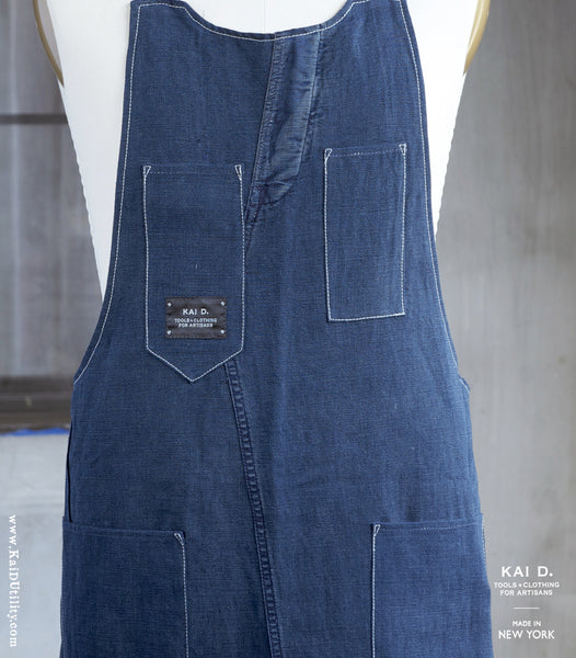 Repurposed Indigo Apron