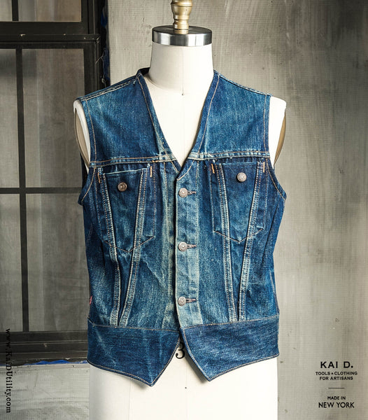 Repurposed Denim Waistcoat