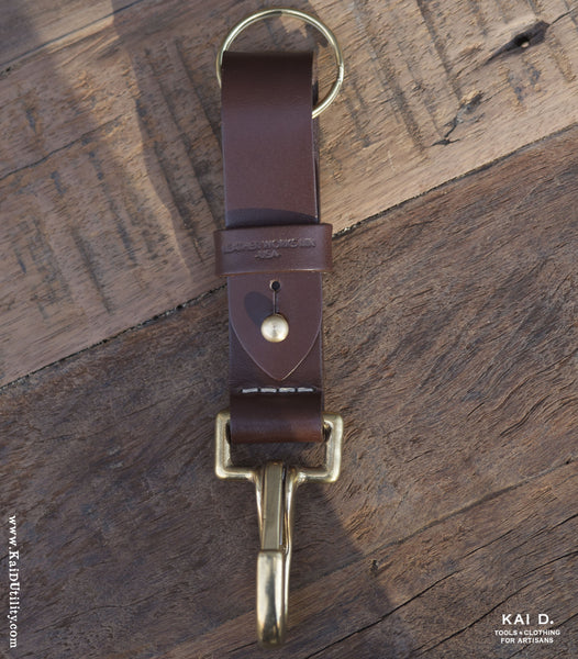 Leather Key FOB - Chocolate