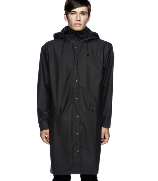 Hooded Rain Long Coat