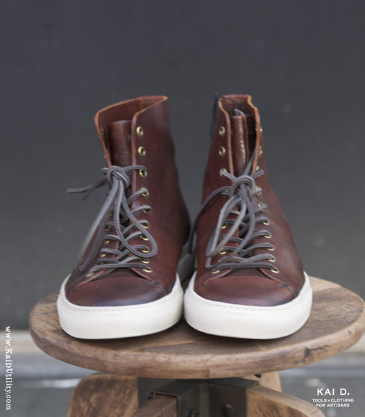 Buttero Leather High Top Shoes - 12