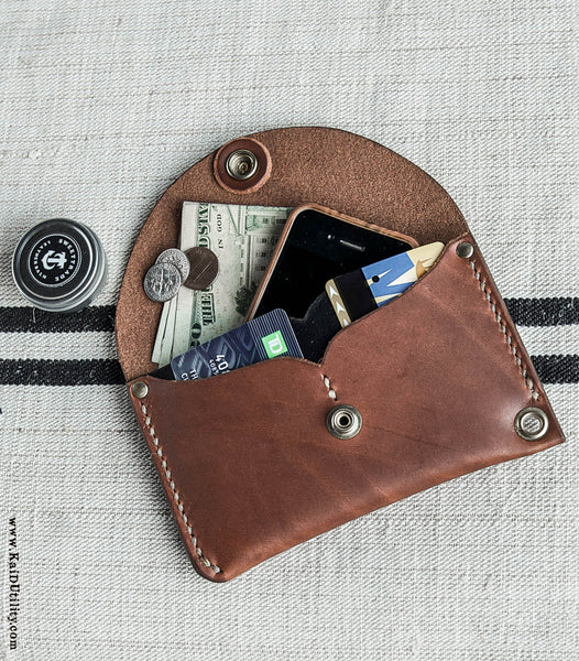 Port Over Leather Wallet