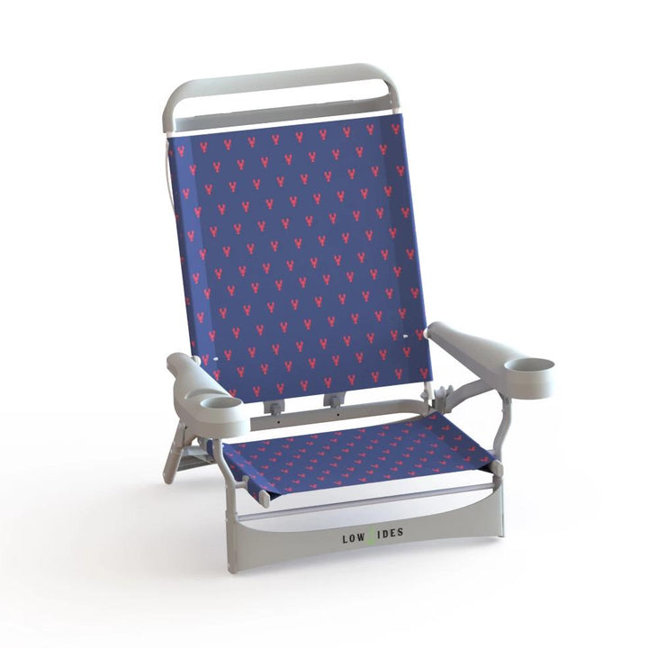 Sandbar Low Beach Chair in Lobster Navy, Beach Chair, LowTides Ocean Products