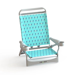 Sandbar Beach Chair in Seahorse Turquoise, Beach Chair, Lowtides Ocean Products, LowTides Ocean Products