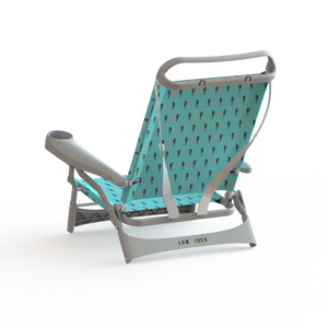 Sandbar Low Beach Chair in Seahorse Turquoise, Beach Chair, LowTides Ocean Products
