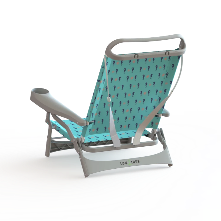 Sandbar Beach Chair in Seahorse Turquoise, Beach Chair, LowTides Ocean Products