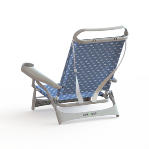 Sandbar Beach Chair in Shark Ocean Blue, Beach Chair, LowTides Ocean Products