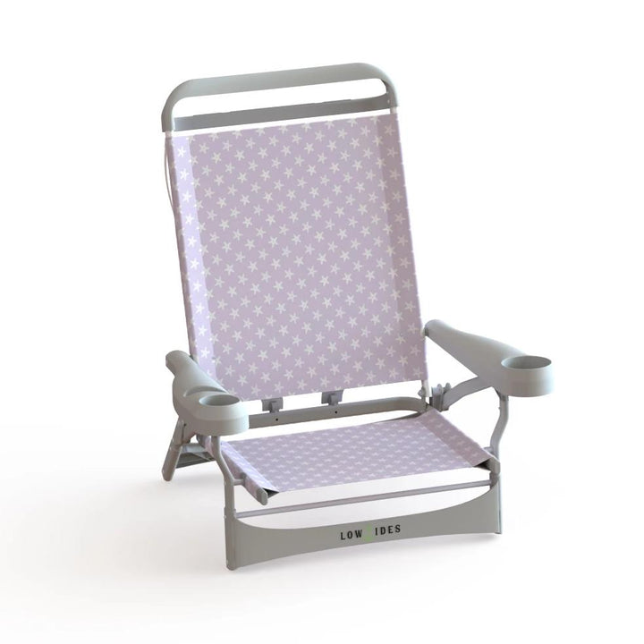 Sandbar Beach Chair in Starfish Lilac, Beach Chair, LowTides Ocean Products