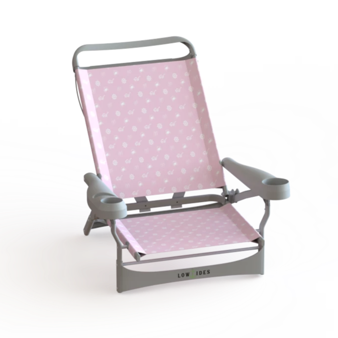 Sandbar Low Beach Chair in Summertime Pink, Beach Chair, LowTides Ocean Products
