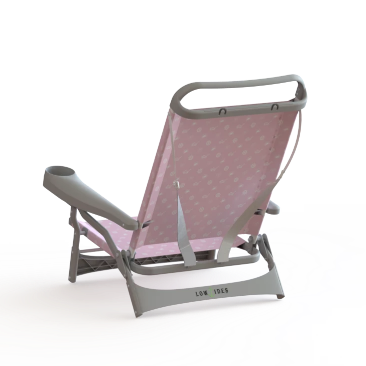 Sandbar Beach Chair in Summertime Pink, Beach Chair, Lowtides Ocean Products, LowTides Ocean Products