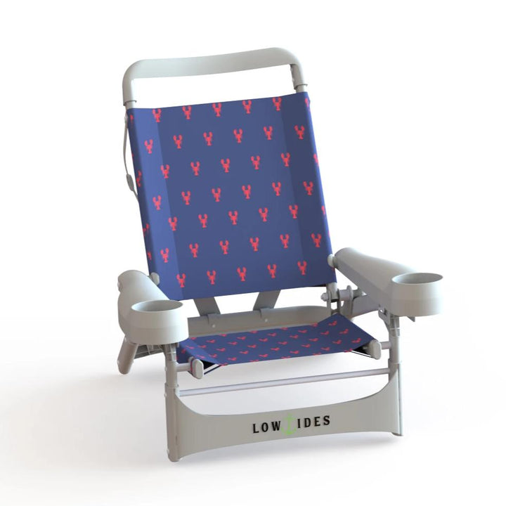 Gully Beach Chair in Lobster Navy, Beach Chair, LowTides Ocean Products