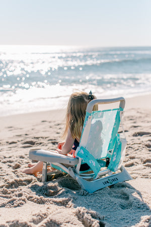 Gully Child Beach Chair in Mermaid Mint, Beach Chair, LowTides Ocean Products