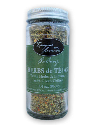HERBS de TEJAS with dried green chilies