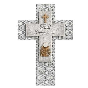 Cross-Gray 1st Communion Wall Cross