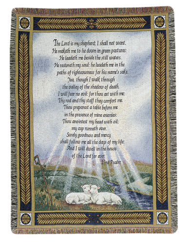 Inspirational Throws ~ 23rd Psalm
