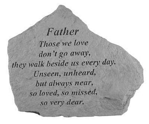 "Garden Stone-Mother/Father ""Those we love...."""