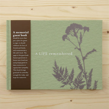 Book ~ A Life Remembered Memorial Guest Book